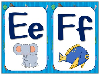 Under the Sea ABC Cards