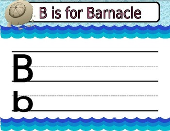 Under-the-Sea ABC tracing worksheets