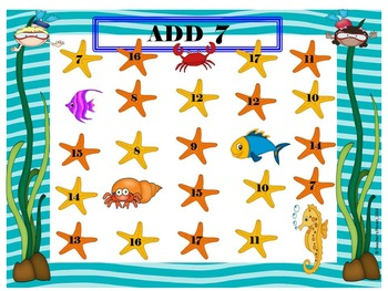 Addition Games - Under the Sea