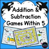 Addition and Subtraction Games Within 5 {Under the Sea Theme}