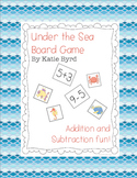 Under the Sea - Addition and Subtraction board game