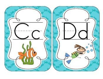 Under the Sea Alphabet Cards