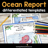 Informative Writing Templates - Ocean Animals Report