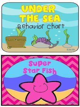 Under the Sea Behavior Clip Chart