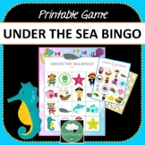 Under the Sea Bingo - Cute Ocean Themed Bingo Game for Preschool & K-2 kids