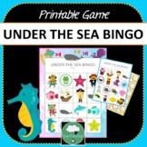 UNDER THE SEA BINGO GAME Two Designs + PDF + Digital Options