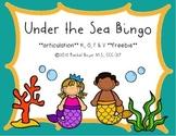 Under the Sea Bingo FREEBIE for /k/, /g/, /f/, & /v/