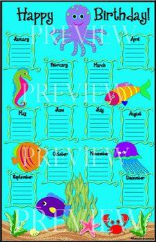 Under the Sea Birthday Chart