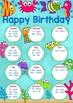 Under the Sea Birthday Chart EDITABLE