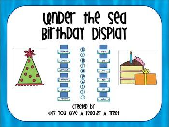 Under the Sea Birthday Display