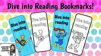 Under the Sea Bookmarks Dive into Reading