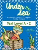 Under the Sea: CCSS Aligned, Ocean Themed, Leveled Passage