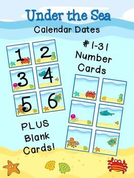 Under the Sea - Calendar Dates