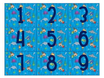 Calendar Months- Under the Sea Theme