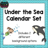 Under the Sea Calendar Numbers, Months and Days