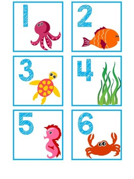 Calendar Numbers and Months-Under the Sea