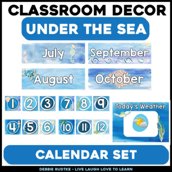 Under the Sea Calendar Pack - Sea Turtles & Watercolor