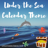 Under the Sea Calendar Theme