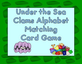 Under the Sea Clam Alphabet Matching Card Game