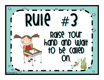 Under the Sea: Class Rules Posters