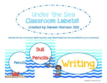 Under the Sea Classroom Labels