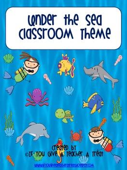 Classroom Theme- Under the Sea BUNDLE!