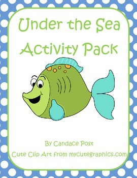 Under the Sea Classroom Theme Packet Name Tags, Alphabet,