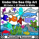 Ocean Clipart Fish Dolphin Crab Octopus Seahorse Shark Turtle Whale Starfish SPS
