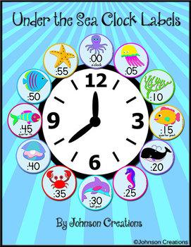 Under the Sea Clock Labels