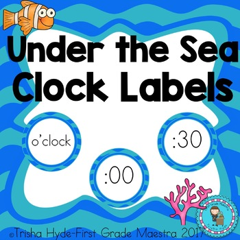Under the Sea Clock Number and Labels