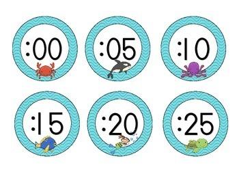 Under the Sea Clock Numbers: Waves Set