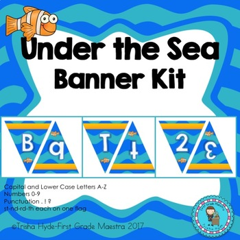 Under the Sea Clown Fish Theme Custom Banner