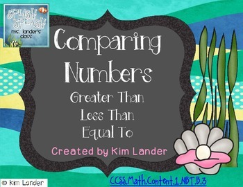 Under the Sea Comparing Numbers  Common Core Aligned