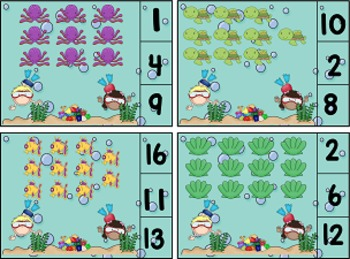 Under the Sea Counting Clothes Pin Cards