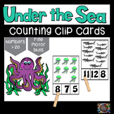 Under the Sea Count and Clip Number Cards