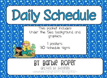 Under the Sea Daily Schedule