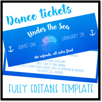 under the sea dance ticket template by the never boring mrs doering