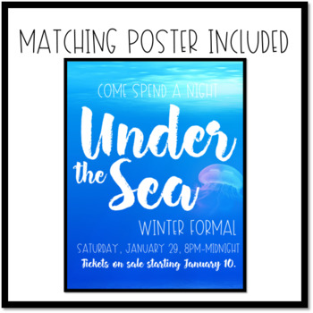 Under the Sea Dance Ticket Template
