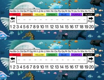 Under the Ocean Desk Name Tag Plates Set