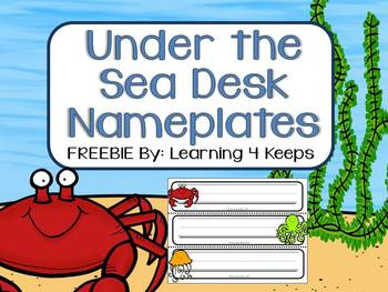 Under the Sea Desk Nameplates (6 Options)
