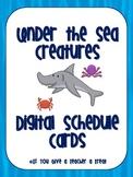 Under the Sea Digital Schedule Cards
