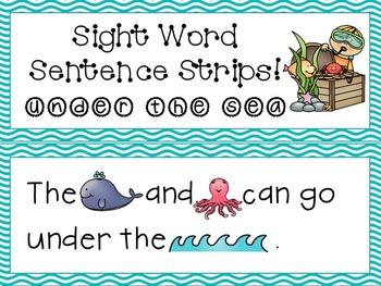 Sight Word Sentence Strips: Under the Sea set