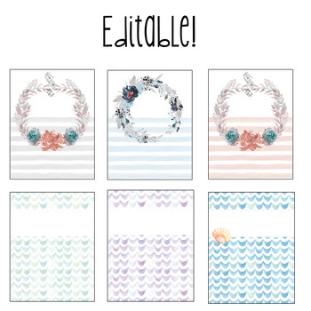 Under the Sea Editable Binder Covers