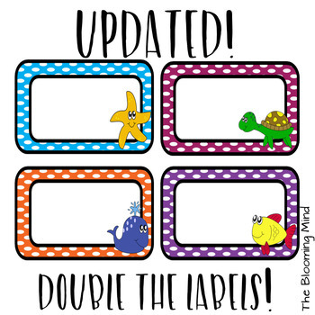 Under the Sea Editable Labels