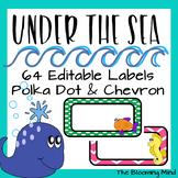 Ocean Theme Labels