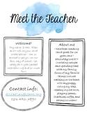 Under the Sea Editable Meet the Teacher