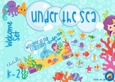 Under the Sea Themed Editable Welcome Set