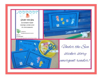 Under the Sea Emergent Reader Coloring & Sticker Story