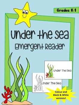 Under the Sea Emergent Reader - Colour and Black & White options