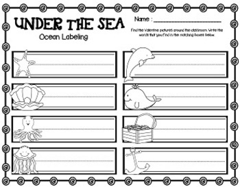 Under the Sea Extravaganza (24 Math & Literacy Centers + Word Wall Cards)